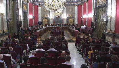 Una imagen del juicio del 'procés' en el Supremo.