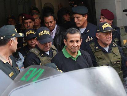 El expresidente Ollanta Humala, rumbo al penal Virgen de Fátima