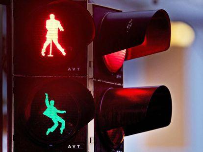 Los nuevos semáforos en la ciudad alemana de Friedberg.