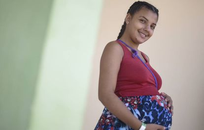 Veronica González viajó 26 horas de autobuses deCaracas hasta Pacaraima para dar a luz en Brasil.