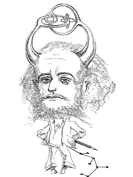 Caricatura de John Conway.