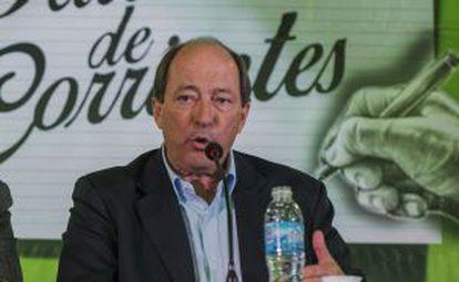 El candidato presidencial opositor Ernesto Sanz en un acto político