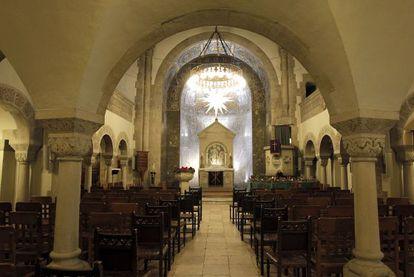 Interior de la iglesia evangélica alemana en el paseo de la Castellana de Madrid.