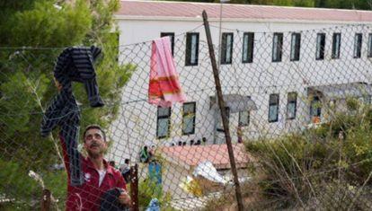 Centro de inmigrantes de Lampedusa (Italia), en una imagen de archivo.