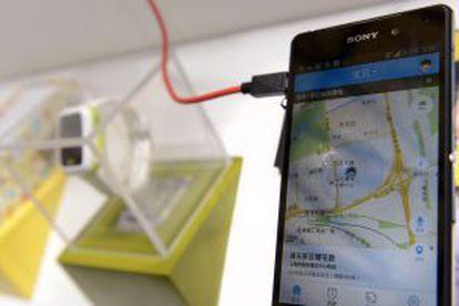 Imagen de la aplicación que controla la pulsera ideada por 360 para la localización continua de los niños.