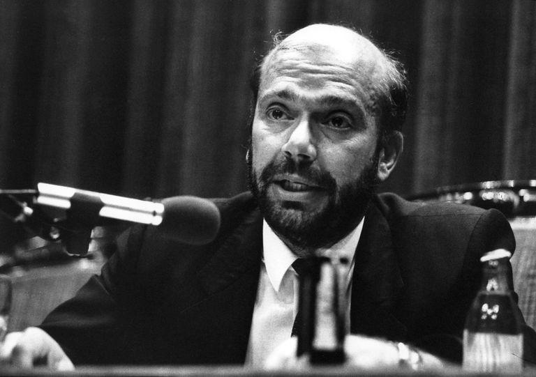 Alfons Quintà, durante la presentación del diario 'El Observador', en mayo de 1990