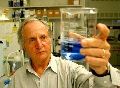 El genetista Mario Capecchi, en un laboratorio de la Universidad de Utah.