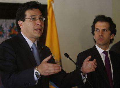 El ministro de Exteriores ecuatoriano, Fander Falconí, y su homólogo Jaime Bermúdez, han inaugurado las comisiones de trabajo entre los dos países.
