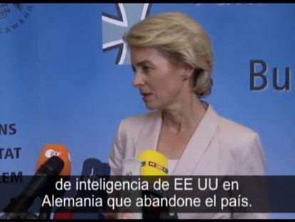 La ministra de Defensa alemana habla sobre la expulsión del jefe de la CIA e Berlín.