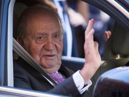 Juan Carlos I en abril de 2018 tras asistir a la misa de Resurección en Palma de Mallorca.
