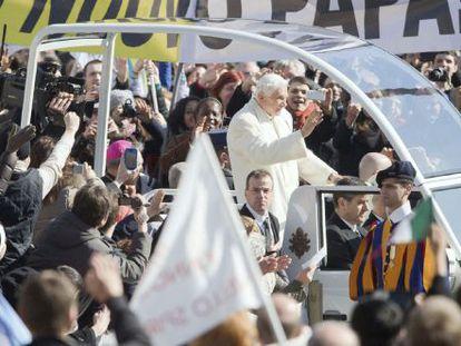 El Papa durante su última audiencia pública.