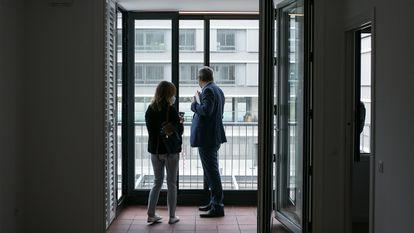 Una vivienda destinada a alquiler social, el pasado septiembre en Barcelona.