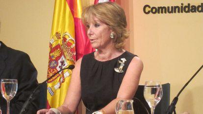 Esperanza Aguirre, en un acto de la Comunidad de Madrid.