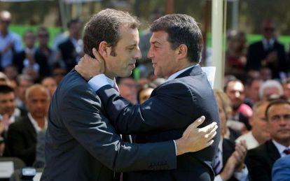 Rosell y Laporta, en la toma de posesión del primero, en 2010.