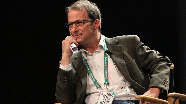 George Packer durante una de sus conferencias en el Tribeca Film Festival.