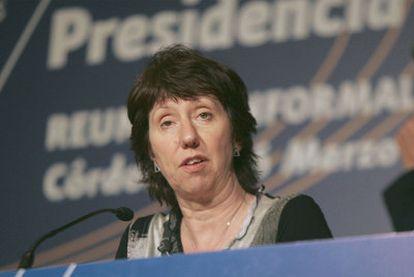 La Alta Representante de Política Exterior de la UE, Catherine Ashton.