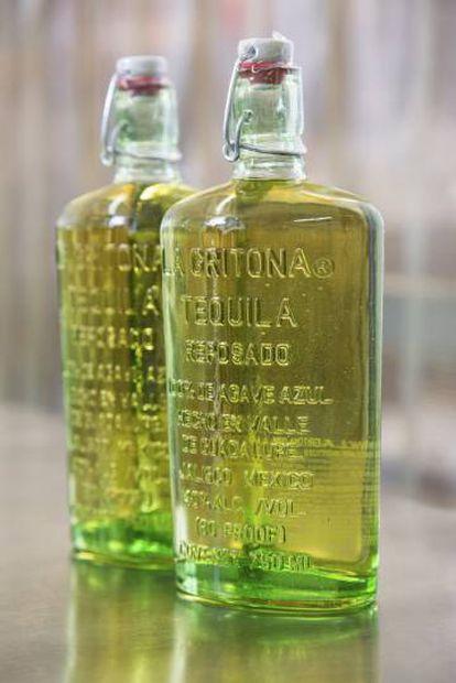Tequila La Gritona, marca para la que trabaja Melly Barajas.