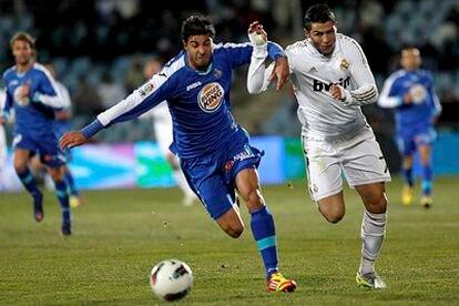 Cristiano y Miguel Torres, en una carrera del encuentro.