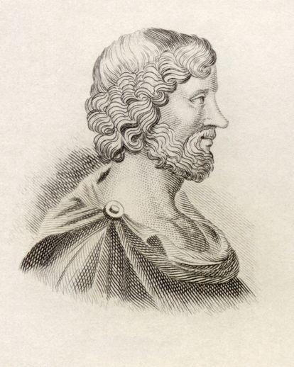 Arístipo, discípulo de Sócrates y padre de los hedonistas.