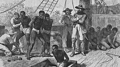 Barco de esclavos en el siglo XIX
