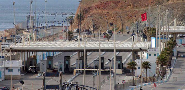 Paso fronterizo entre Ceuta y Marruecos, el pasado 22 de marzo.