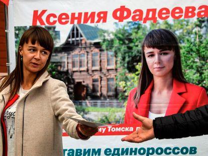 Ksenia Fadeyeva, líder del movimiento de Navalni en la ciudad siberiana de Tomsk, ganó las elecciones locales del pasado septiembre.