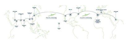 La ruta del Sola Impulse II
