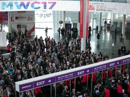 Asistentes al Mobile World Congress, en la pasada edición.