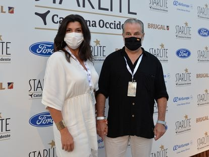 Marcos de Quinto y su esposa, Angelica de la Riva, en el Starlite Festival 2020 in Marbella en julio pasado.