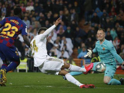 Mariano anota el segundo gol del Madrid. En vídeo, declaraciones de Zidane y de Setién tras el encuentro.