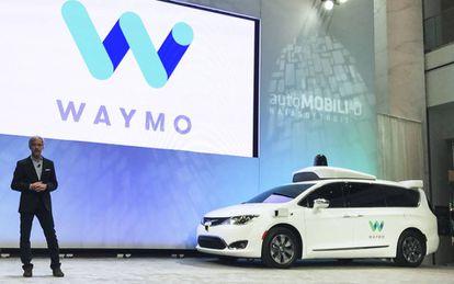 Un coche de Waymo, la empresa de Google que desarrolla el coche autónomo.