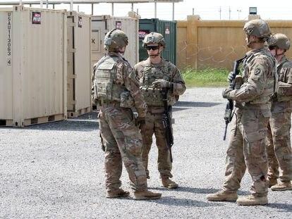 Soldados estadounidenses en una base de Kirkuk (Irak), en marzo de 2020.