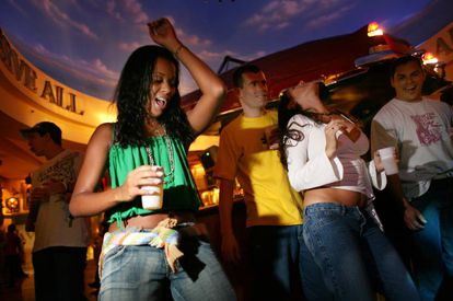 Fiesta del Funk en el Planet Hollywood de Río de Janeiro.