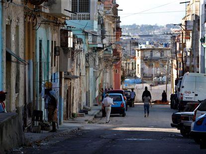 Una calle de La Habana este sábado.