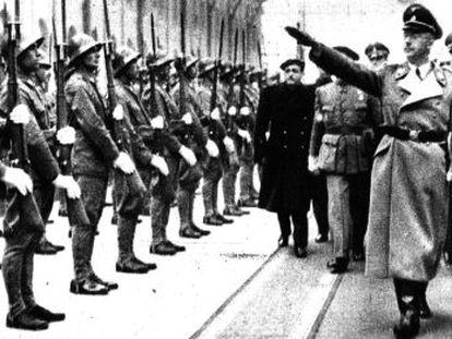 Heinrich Himmler en su visita a España, en mayo de 1940.