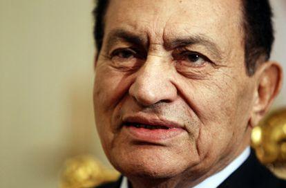 Foto del expresidente Hosni Mubarak, tomada en diciembre de 2010
