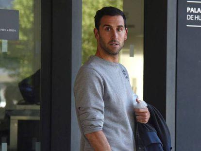 El jugador de fútbol Íñigo López, tras ser puesto en libertad en mayo.