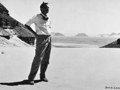 David Lean durante el rodaje de 'Lawrence de Arabia'.