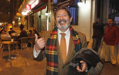 El ex director general de Trabajo Javier Guerrero, anoche en Sevilla.