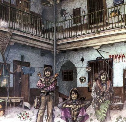 El primer disco de Triana, que se publicó en 1975 en principio sin título, pero con el tiempo se llamó 'El patio' gracias a la portada diseñada por Máximo Moreno.