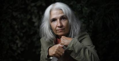 Belén Gopegui, antes de una entrevista en Madrid en 2017.