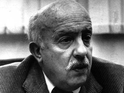 Ricardo Muñoz Suay (Valencia, 1917-1997), en 1988.