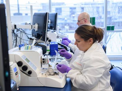 Los laboratorios de Foundation Medicine en Cambridge, junto a Boston (EEUU)
