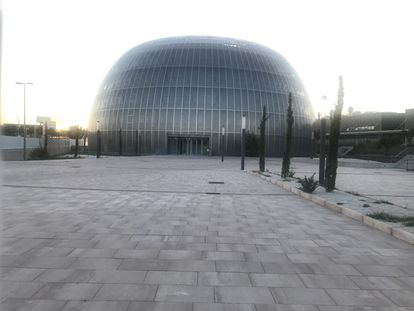 Entrada del Instituto de Medicina Legal, en Valdebebas (Madrid), el pasado 10 de agosto.