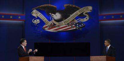 Mitt Romney y Barack Obama, durante el debate del miércoles.