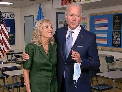 Jill y Joe Biden, durante la campaña electoral.