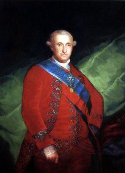 El rey Carlos IV retratado por Francisco de Goya.