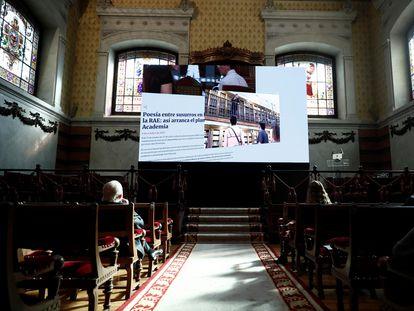 Presentación de la nueva web de la RAE, este viernes en Madrid.