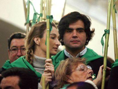 Juan José Güemes, junto a su mujer, Andrea Fandra, en una romería de La Magdalena, en Castellón