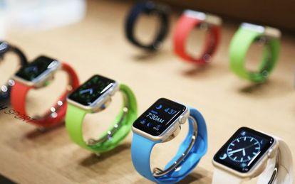 Relojes de Apple durante la presentación el pasado 9 de marzo en San Francisco.
